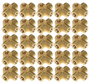 """M10 x 1mm Brass T-Piece for Copper Brake Pipe 3/16"""" Size - Pack 25x"""