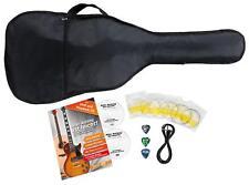 TIPTOP E-Gitarren Zubehör Set mit Kabel Saiten Plektrum Schule und Lern DVD NEU