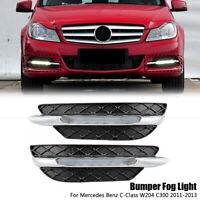 LED Daytime Running Light DRL Fog Light for Benz W204 C-Class Facelift 2011-2013