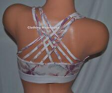 7deb8fd081 Victoria s Secret PINK Strappy Back Bralette Bra Logo Tropical Palm Beach S  NEW