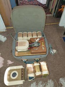 Original Tefifon TEFI Bandgerät / Koffergerät mit viel Zubehör