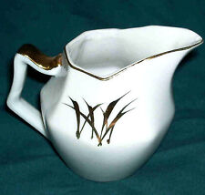 Hand-painted Gold Wheat Design Pitcher/Creamer - Japan