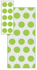 Citrus Green Polka Dots Loot Bags (20)