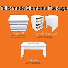 Tailormade Cabinet Package - Sewing Table, Drawers, Chest, Cutting Table