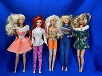 Lot Of 5 Barbie Dolls - Various Outfits - See Photos - [Lot3]