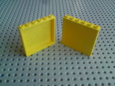 Lego Panels 1x6x5 with Sides [59349] - Yellow x2