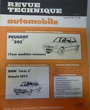 NEUF Revue technique PEUGEOT 205 ESSENCE GL GR SR GT RTA 438 1983 + BMW serie 5