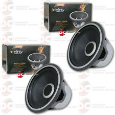 "2 x NEW INFINITY 12"" CAR AUDIO SUBWOOFER W/ SELECTABLE 4 OR 2-OHM SWITCH 2000W"