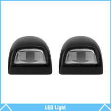 2Pcs Rear License Plate Light Lens For Chevy Silverado Sierra Pickup Escalade