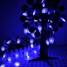 Lychee 13 ft 4m 40LED Battery Heart-shaped String Lights, Blue