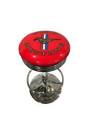 BAR RETRO DINER STOOL - MUSTANG (RED) -