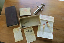 Old B-D Champion Veterinary Syringe, needles, original boxes, animals, medical