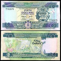 SOLOMON ISLANDS 50 DOLLARS ND 1986 P 17 UNC