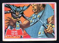 FACING THE AXE 1966 TOPPS BATMAN PUZZLE A RED BAT #6 A   VERY GOOD