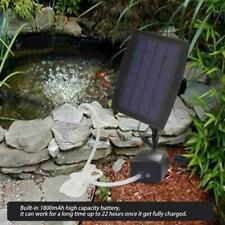 2 Air Stone Aerator Pond Water Oxygenator Solar Powered Oxygen Pump Fish Tank