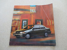 1993 Toyota Tercel automobile advertising booklet