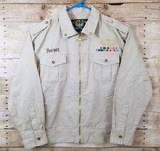 Bare Fox NWT Men's Tan Graphic Zip Up Shirt/Jacket 2XL Uniform Military in USAF