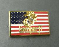 MARINES SEMPER FI  EGA MARINE CORPS US FLAG LAPEL PIN BADGE 1.1 x 5/8 INCHES