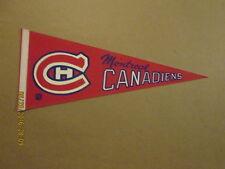 NHL Montreal Canadiens Vintage 1960's Hockey Pennant