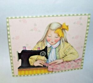 Sewing Needle Packet Mary Engelbreit 2002 Little Girl Sewing on Front