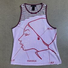 Custo Barcelona Lady Graphic Tank Top Stripe Pink 3