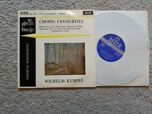 "CHOPIN FAVOURITES SCHERZO No 3 WILHELM KEMPFF 10"" SWL 8023  LP"