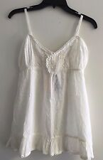 Miss Selfridge Girls White Cami  Size GB 10  &  Euro 38  100% Cotton    NEW