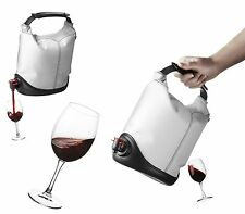 Menu WHITE Baggy Winecoat + 1 Wine Baggy Refill Beverage Bag Box Wine Holder