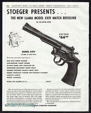 1963 LLAMA Model XXIV Match , 11\22 Long Rifle REVOLVER AD print advertising