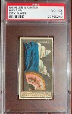 1888 N6 Allen & Ginter City Flags HAVANA PSA 4 VG-EX