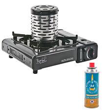 Bright Spark ® Gaskocher + Heizaufsatz + Butan 2 KW ideal als Vorzelt - Heizung