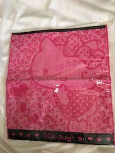 "Hello Kitty Heart Pink Hand Face Towel 13"" X 14"" New Japan Sanrio 100% Cotton"