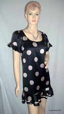 BETSEY JOHNSON   Spotted Polka Dot   Silk Dress   Size 8  - 10