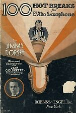 1926~Young Jimmy Dorsey~100 Hot Breaks for Alto Saxophone~Vintage Music Booklet
