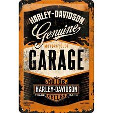 Harley Davidson Genuine Garage Blechschild Metal Tin Sign 3D geprägt 20 x 30 cm