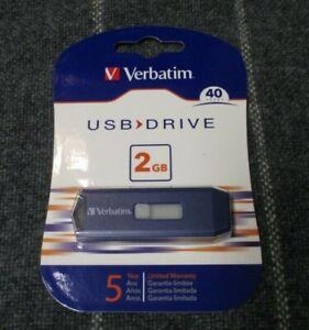 Verbatim Classic USB 2.0 Flash Drive 2GB Blue 97086