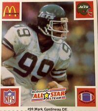 '86 Mark Gastineau New York NY Jets CLASSIC NFL McDonalds All-Star Football Card