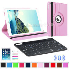 """Rotating Leather Folio Stand Case Cover / Bluetooth Keyboard For iPad 2 3 4 9.7"""""""