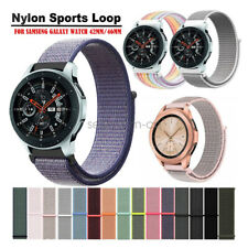 For Samsung Galaxy Watch 46mm 42mm Bands, Woven Nylon Sport Loop Watch Strap