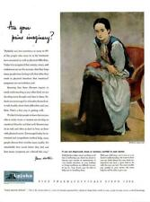 1948 Upjohn PRINT AD Pharmaceuticals Co. Joseph Flach Painting