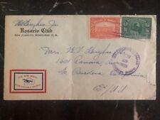 1939 San Jacinto Honduras Airmail cover To Pasadena Ca USA