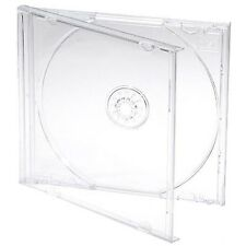 CD / DVD Jewel 10.4mm Cases for 1 Disc with Clear Tray (Pack of 25) By Dragon...