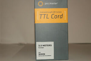 Promaster Extended Length TTL Off-Camera Remote Flash Cord 10M, 7M, 3.5M Nikon