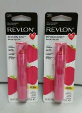 2x REVLON KISS 025 Lip Balm Flavor Fresh Strawberry SPF 20 Lasting Hydration Lot