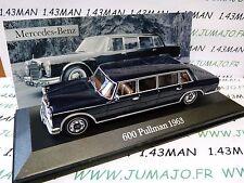 voiture 1/43 ixo altaya MERCEDES : 600 PULLMAN 1963 limousine