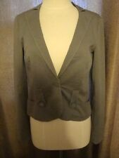 Armani Exchange Gray Green Small Womens Blazer One Button EUC