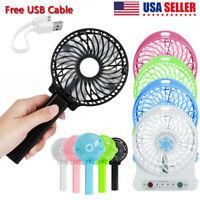 Mini Fan USB Rechargeable Portable Handheld Cooling Fan Desk Summer / Battery