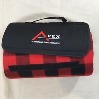 Apex Red Buffalo Plaid Fold Up Carry Picnic Blanket