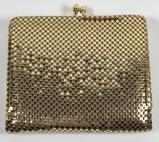 Whiting Davis Mesh Wallet Gold-tone. Made In USA. Excellent Condition.