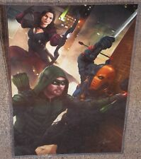 Arrow & Nyssa Al Ghul vs Deathstroke Glossy Art Print 11 x 17 In Plastic Sleeve